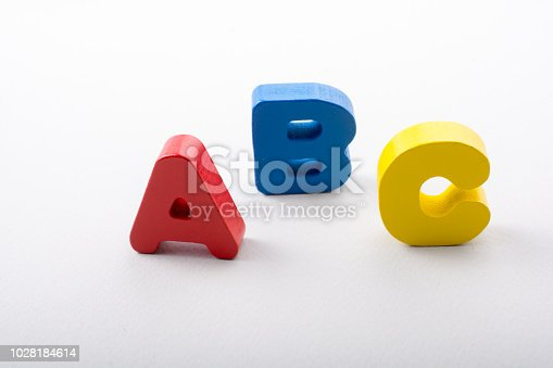 istock Letters of abc of alphabet on white color 1028184614