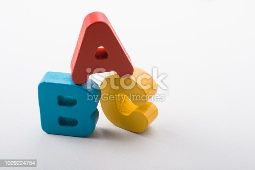 istock Letters of abc of alphabet on white color 1029224754
