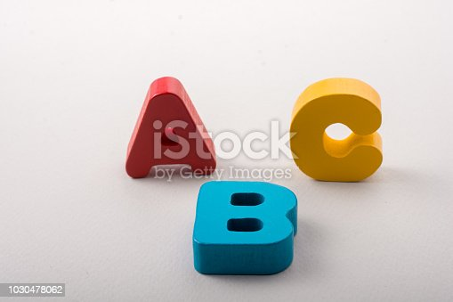 istock Letters of abc of alphabet on white color 1030478062