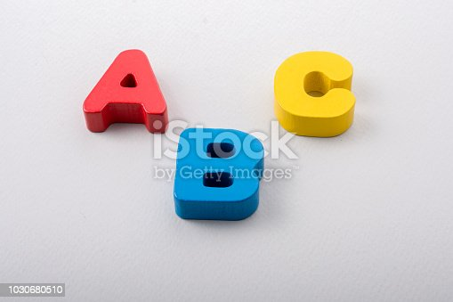 istock Letters of abc of alphabet on white color 1030680510
