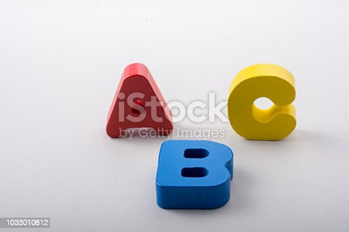 istock Letters of abc of alphabet on white color 1033010812