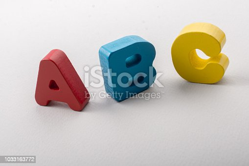 istock Letters of abc of alphabet on white color 1033163772