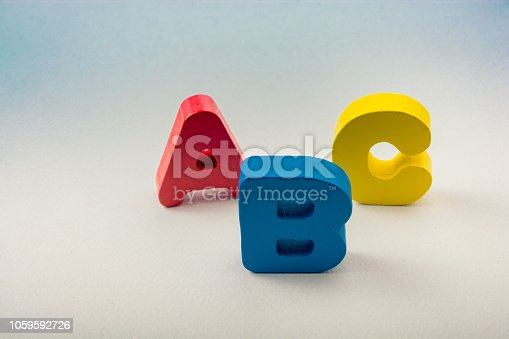 istock Letters of abc of alphabet on white color 1059592726