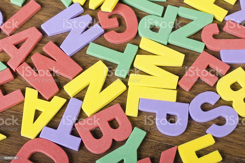letters of different colors royalty-free stock photo