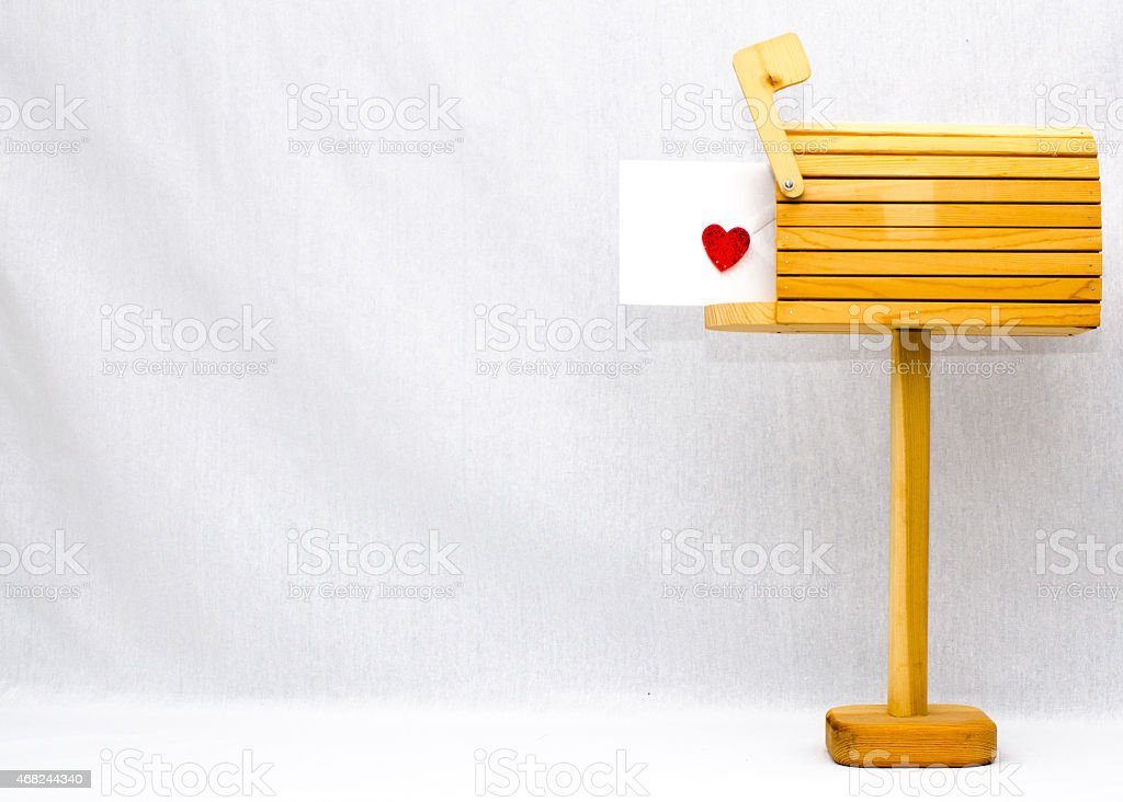Letters of love stock photo