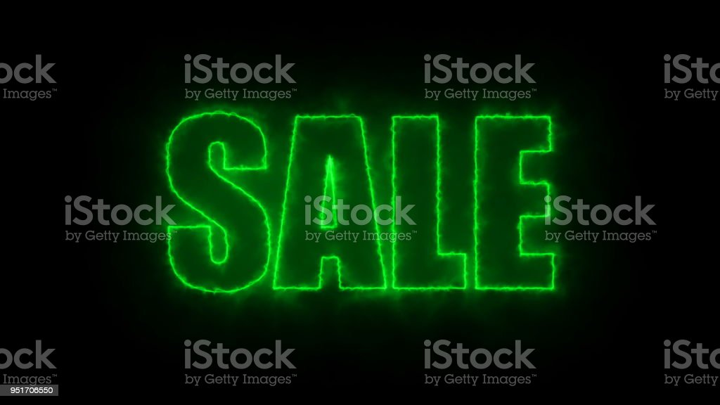 Letters of Sale text on black, 3d rendering background, computer generating for trading stock photo