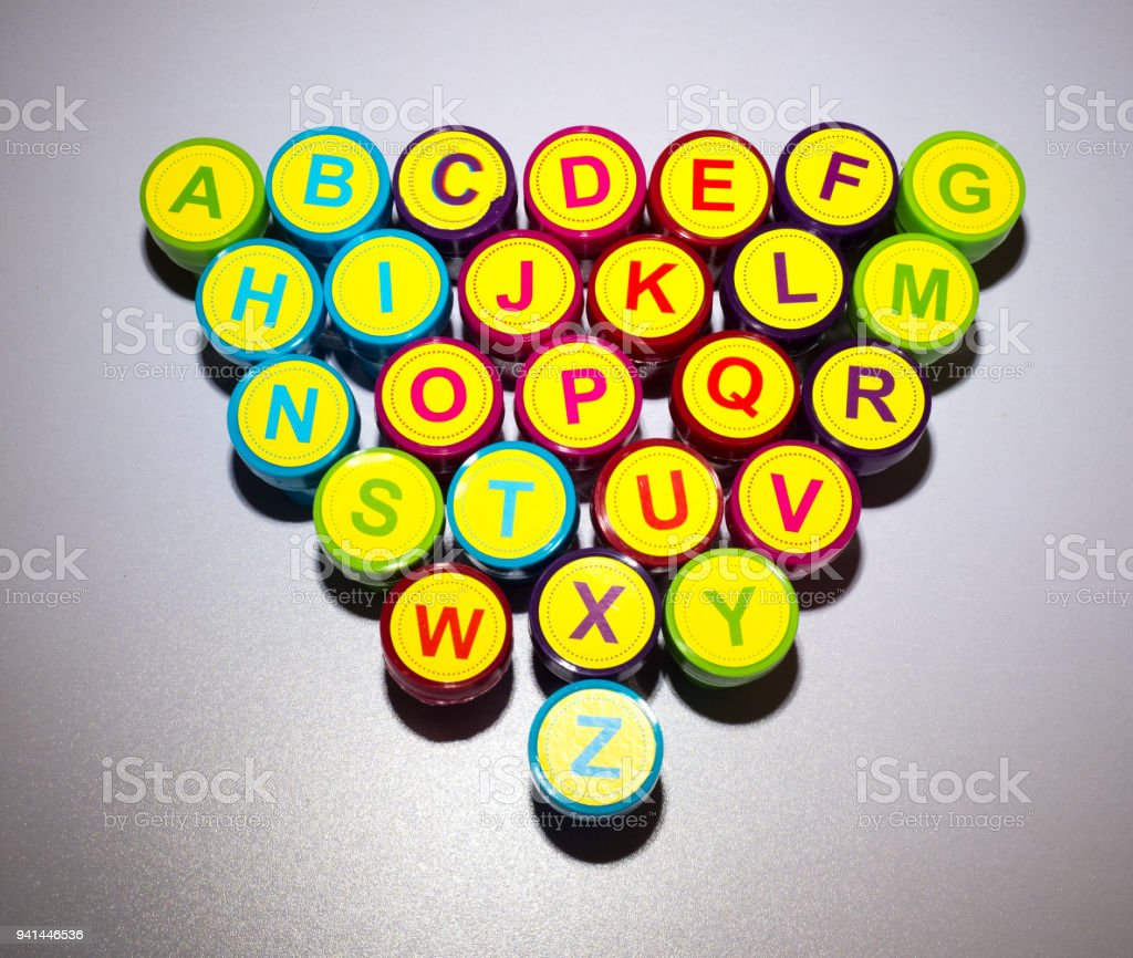 Letters of the Alphabet stock photo