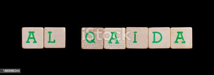 Letters on wooden blocks (al qaida)
