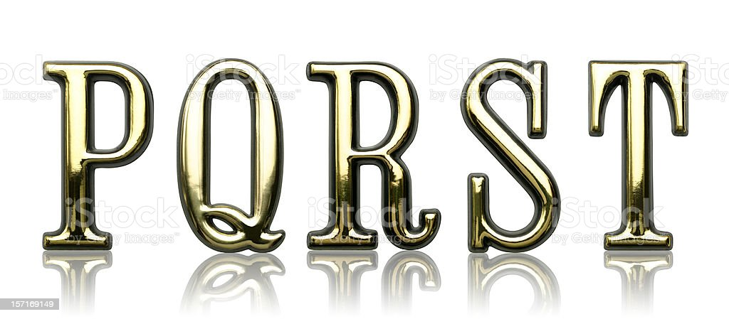 Letters - P Q R S T royalty-free stock photo