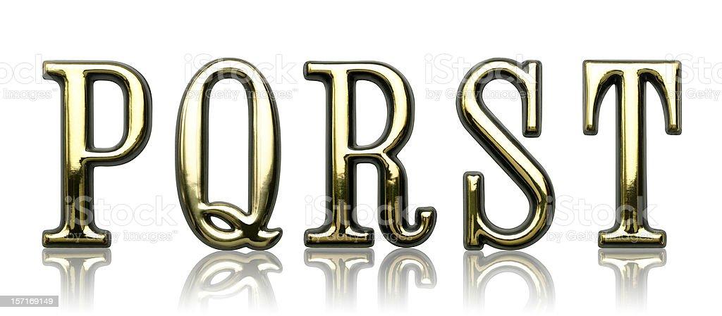 Letters - P Q R S T stock photo