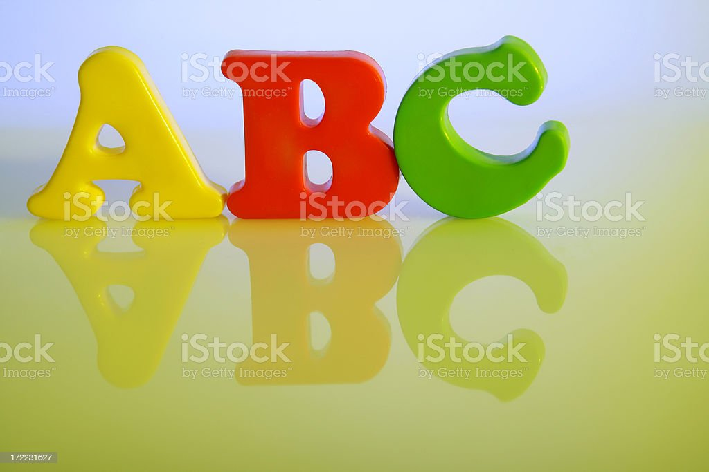 ABC letters royalty-free stock photo