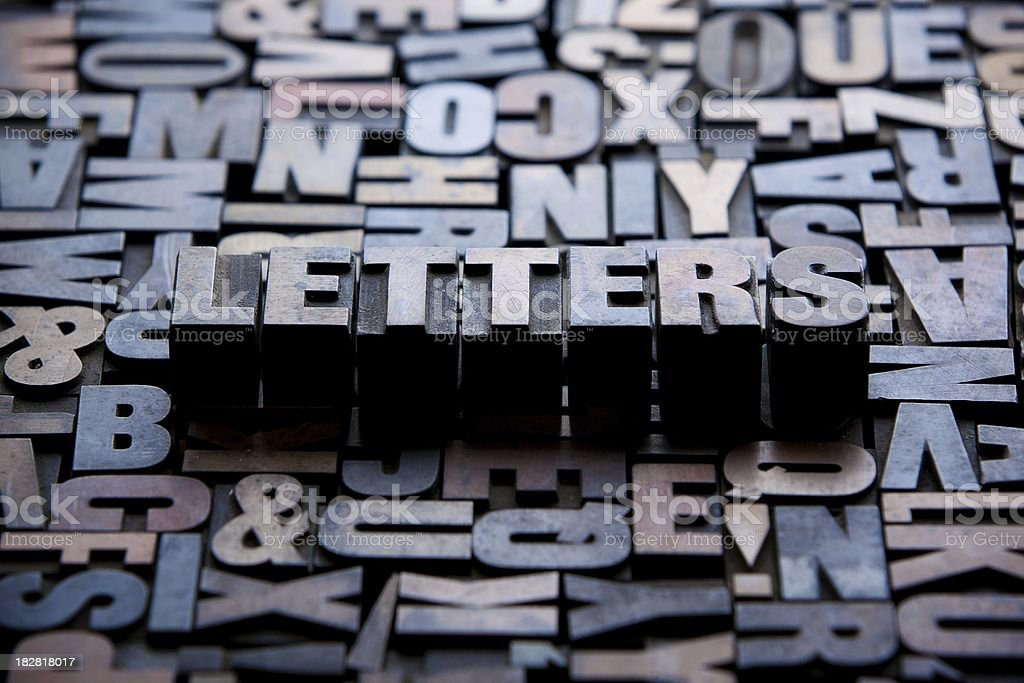 Letters... stock photo