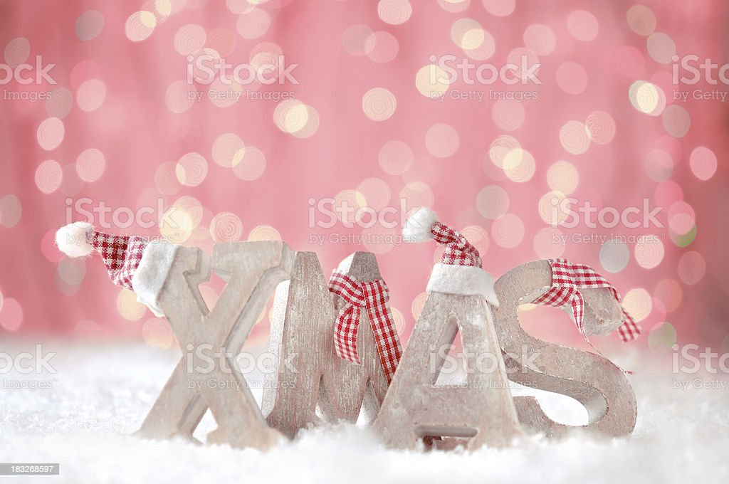 XMAS letters royalty-free stock photo