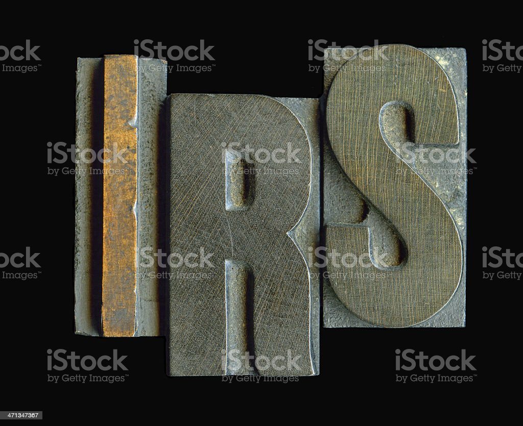 IRS letters stock photo