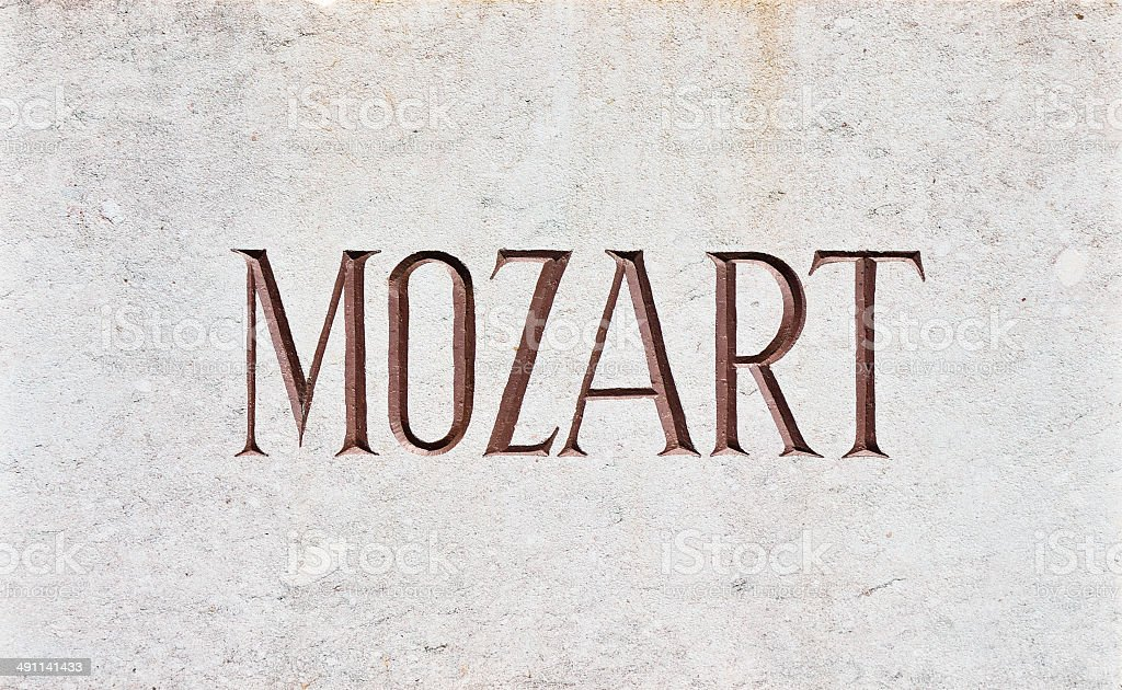 MOZART Letters stock photo