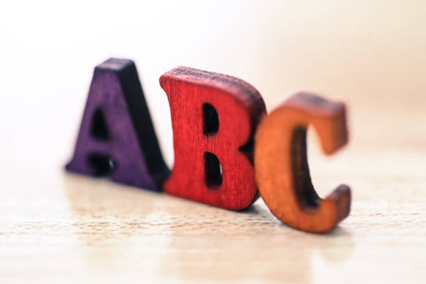 abc letters - alphabetical order stock pictures, royalty-free photos & images