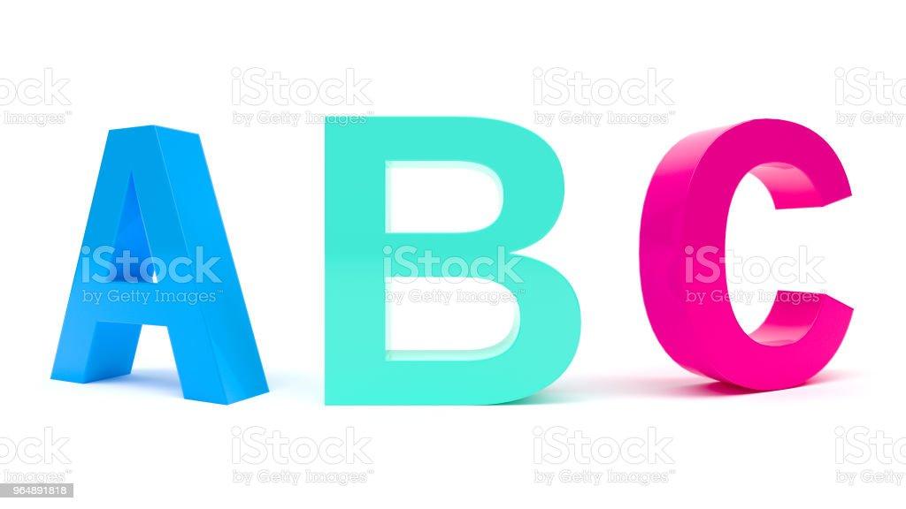 ABC 字母 - 免版稅信 - 文件圖庫照片