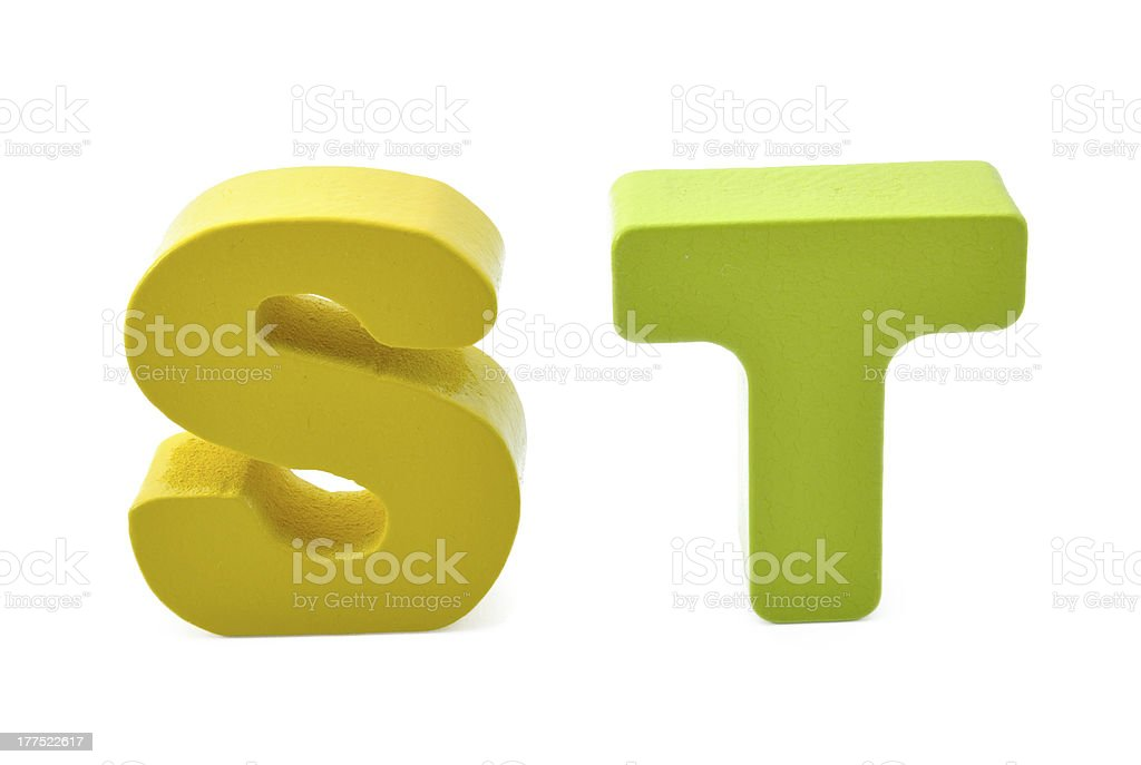 Letters S and T royalty-free stock photo