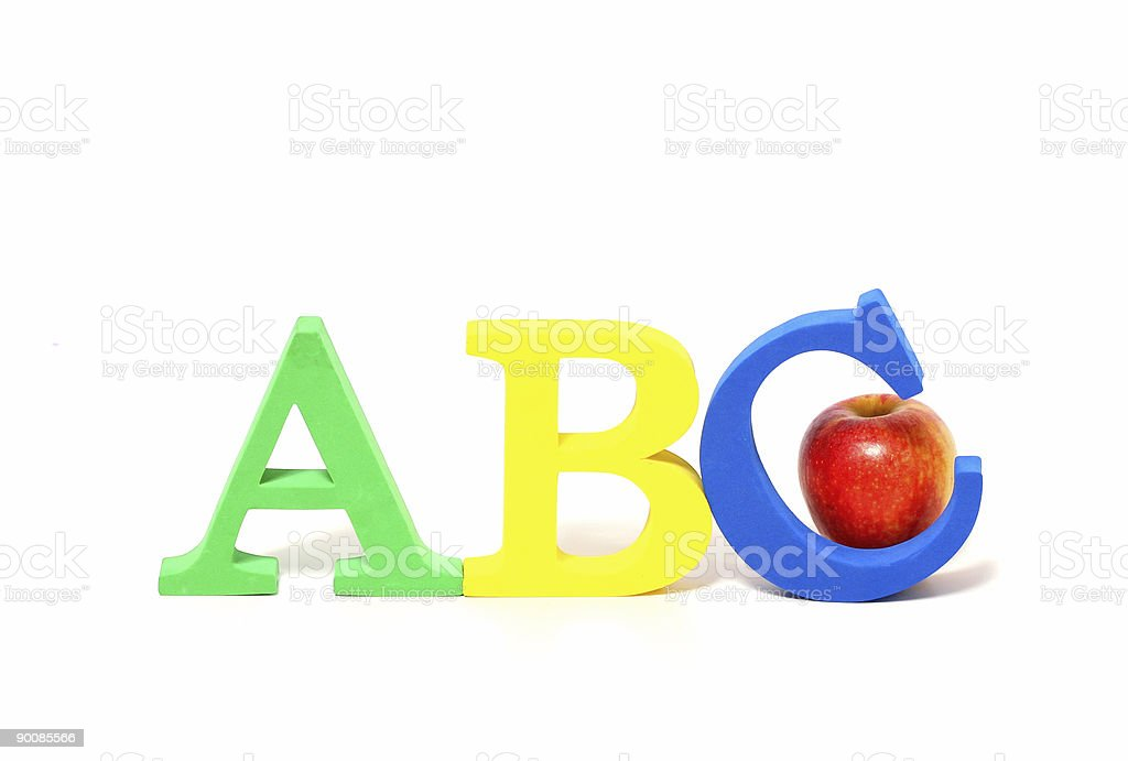 ABC letters, school concept. royalty-free stock photo