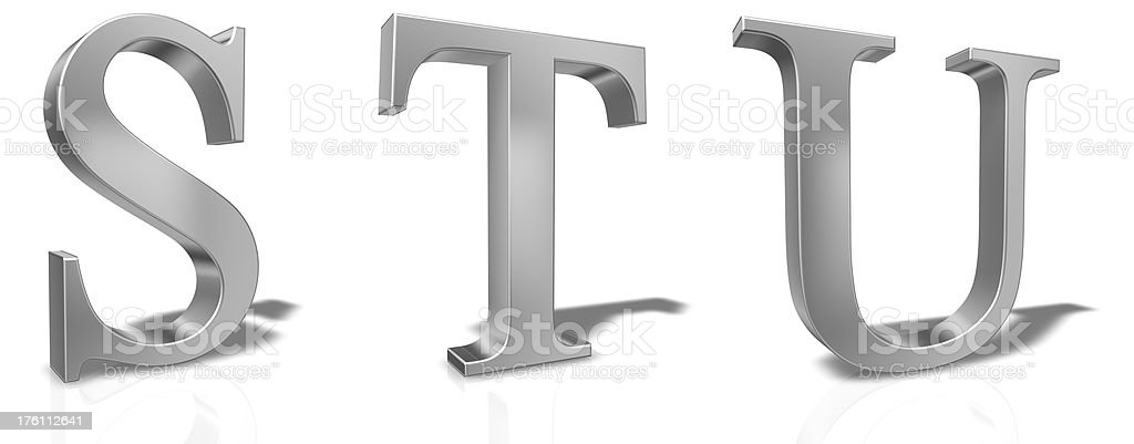 3D Letters Set royalty-free stock photo