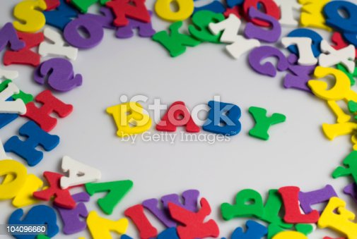 istock Letters spelling baby 104096660