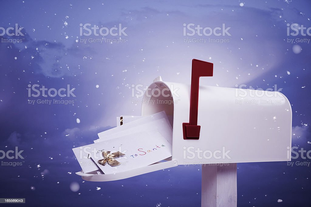 Letters to Santa stock photo