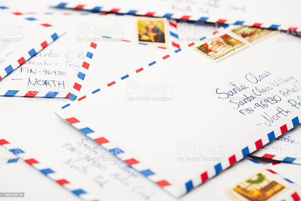 Letters to Santa royalty-free stock photo
