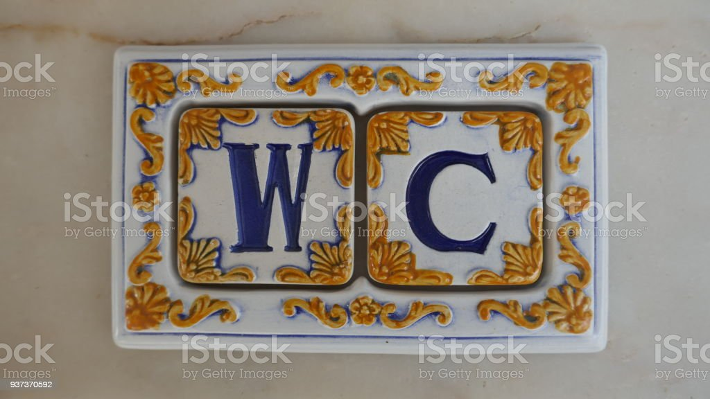 Letters Wc Portuguese Or Spanish Ceramic Tiles Azulejos With Letters