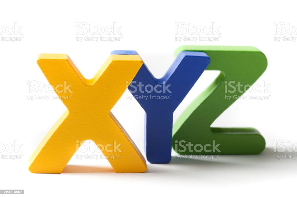 Letters X, Y, And Z royalty-free stock photo