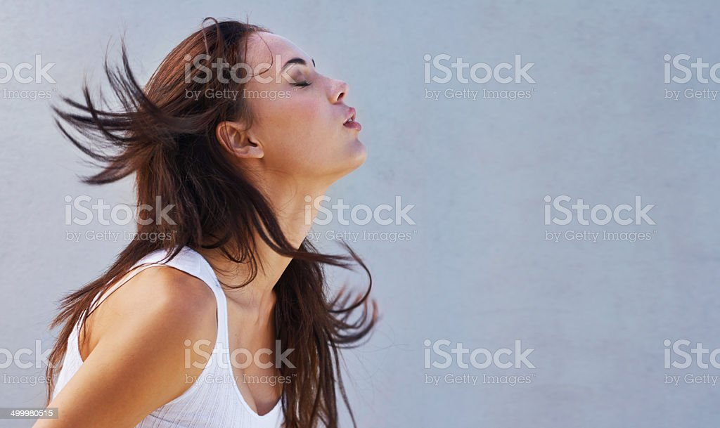 Letting go... stock photo