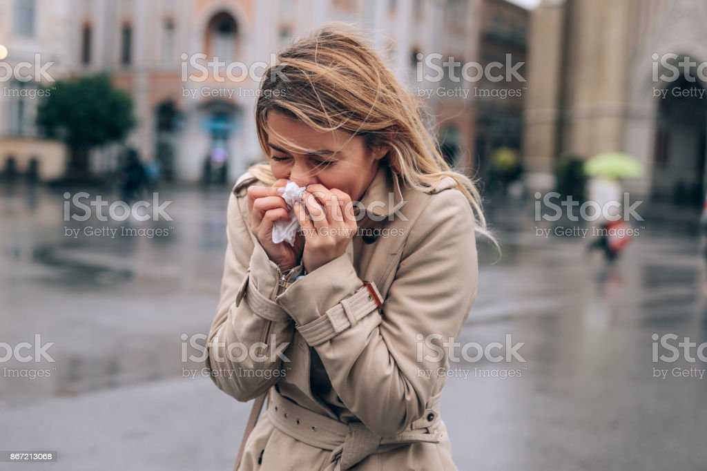 Letting it all out stock photo