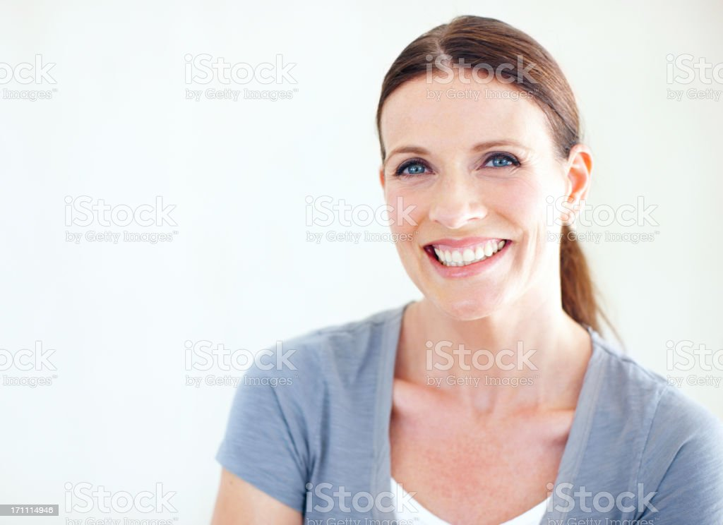Letting my inner happiness show stock photo