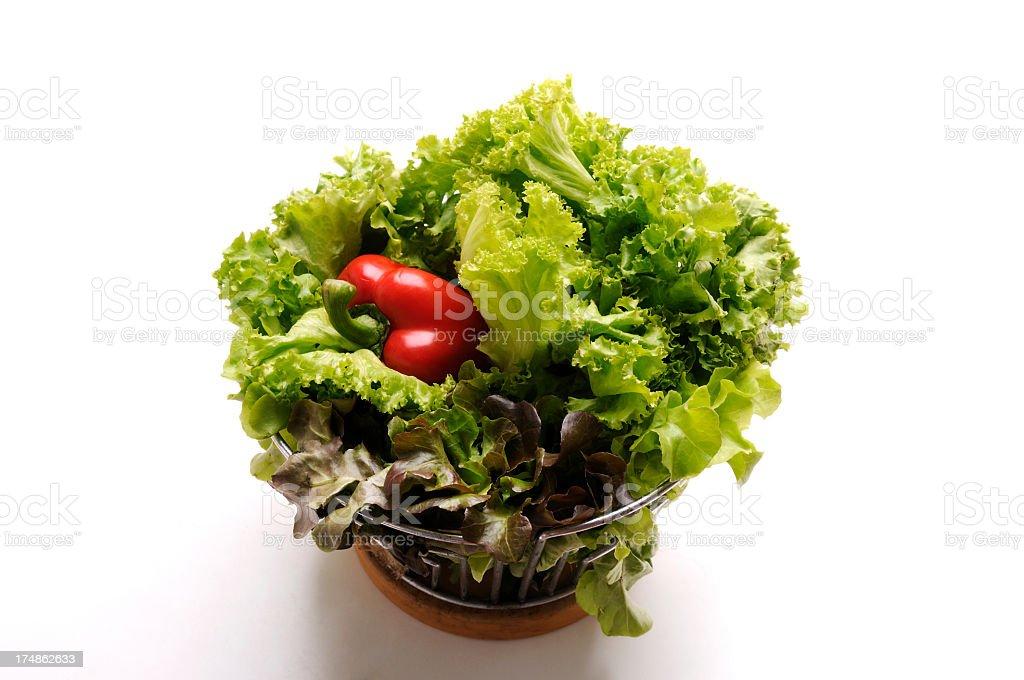 lettuce & red bell pepper royalty-free stock photo