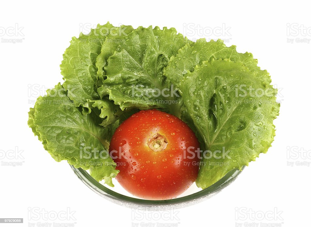 Lettuce and tomato royalty-free stock photo