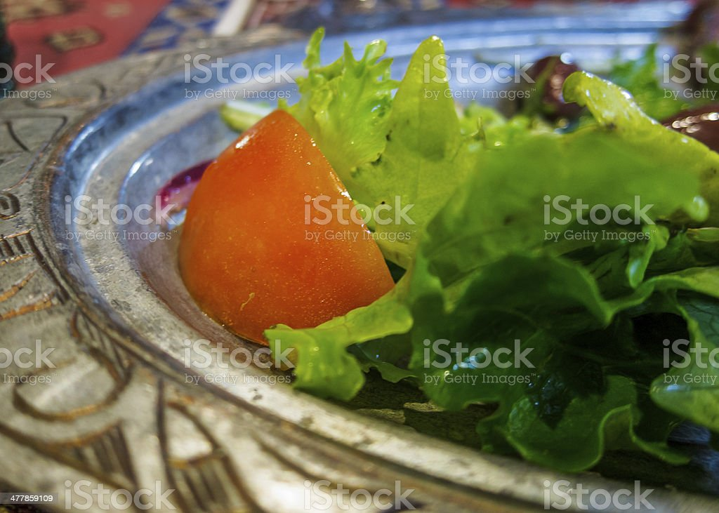 Lettuce and Tomato Salad royalty-free stock photo