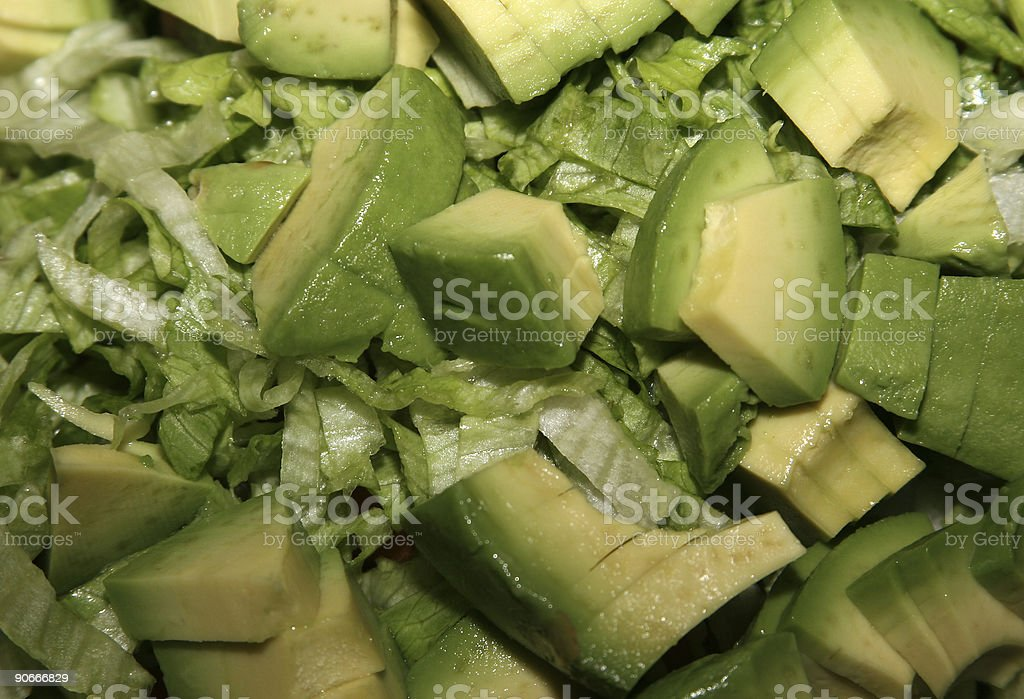 Lettuce & Avocado royalty-free stock photo