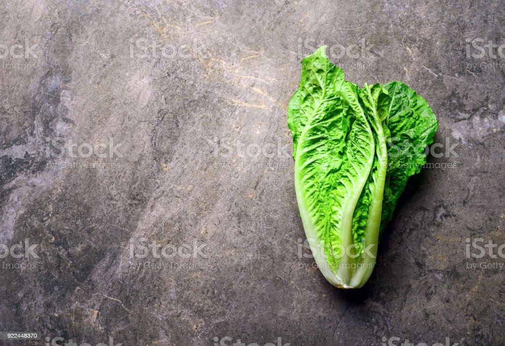 Lettuce on a kitchen stone table stock photo