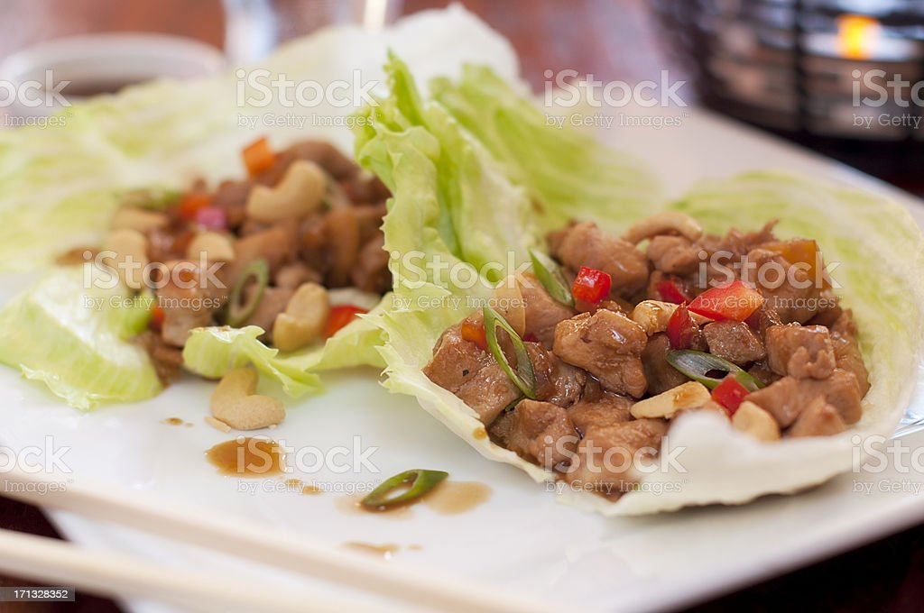 Lettuce Wraps royalty-free stock photo