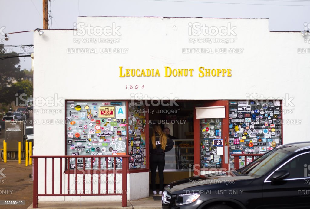 Leucadia, Encinitas, CA: Leucadia Donut Shoppe stock photo