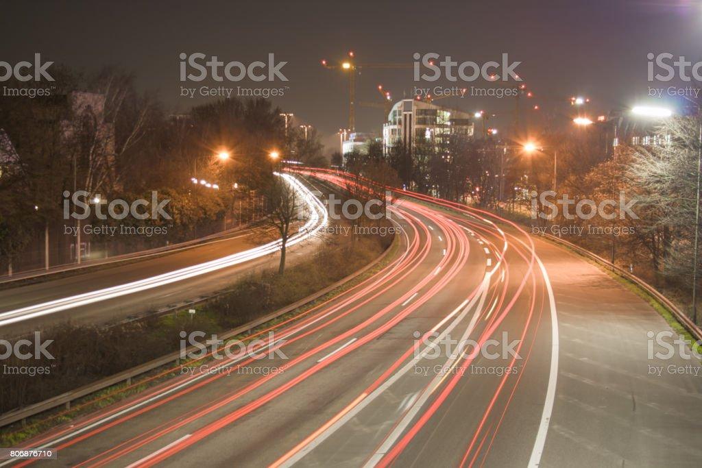 Leuchtstreifen stock photo