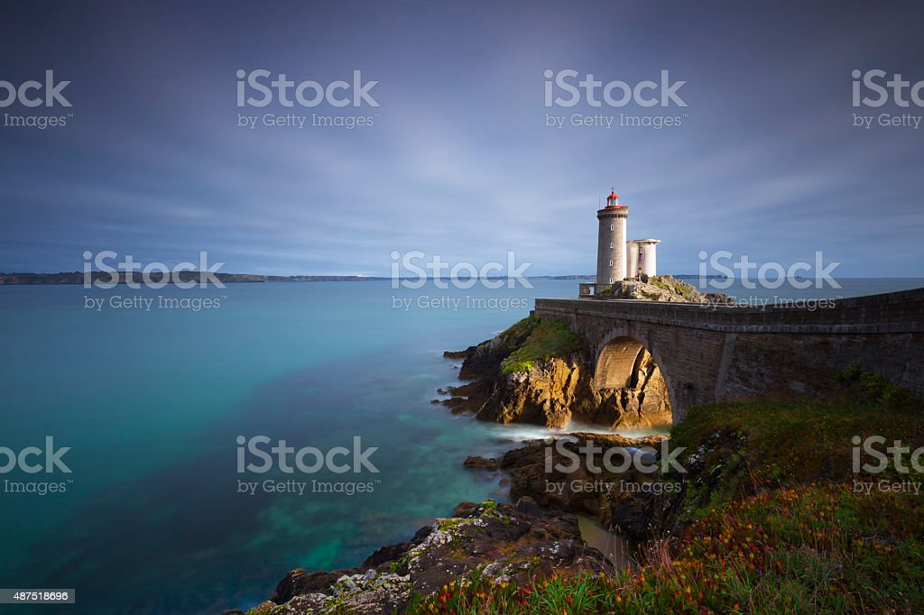 Leuchtturm Petit Minou stock photo