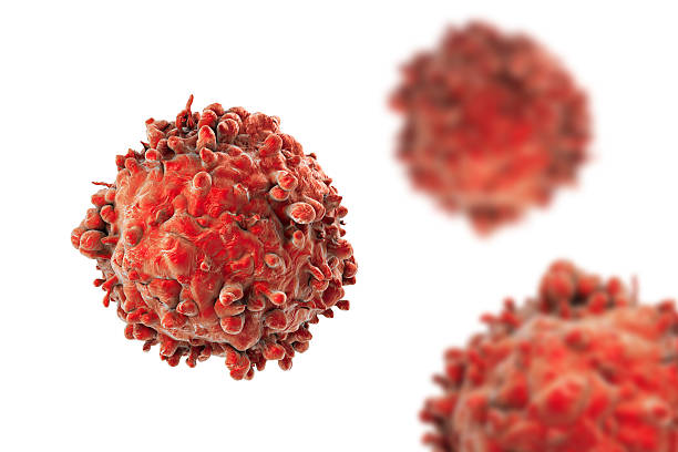 Leukaemia white blood cells stock photo
