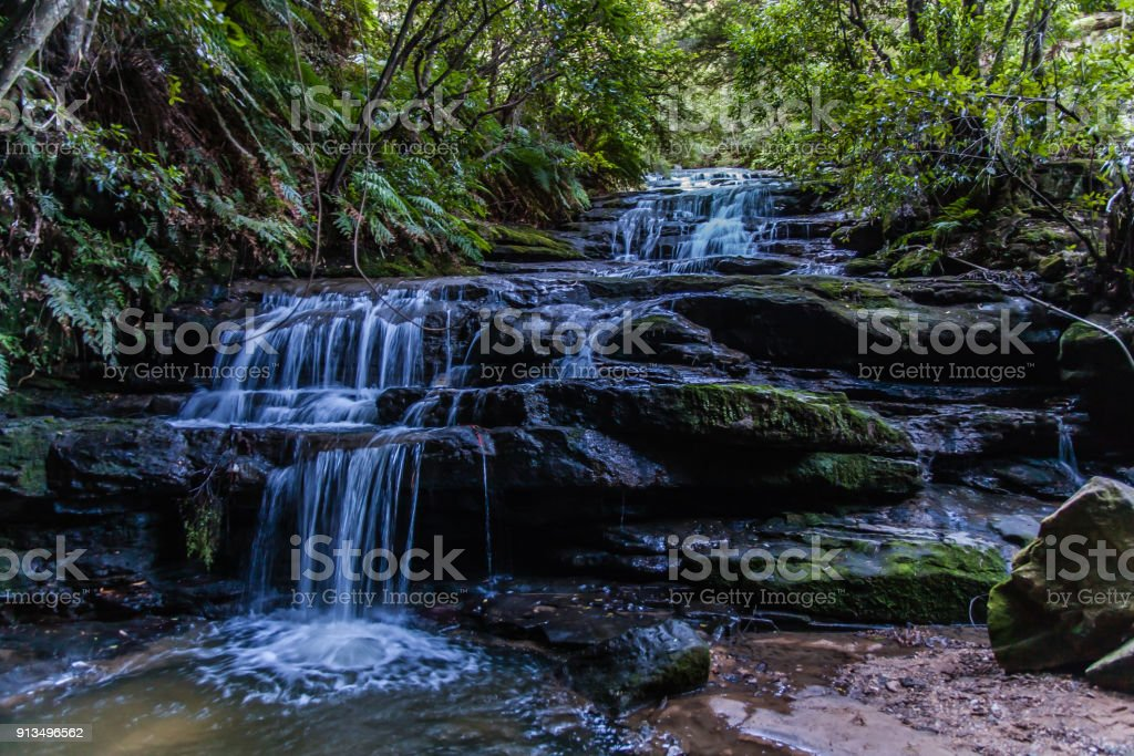 Leura Cascades, Blue Mountains National Park, Australia stock photo