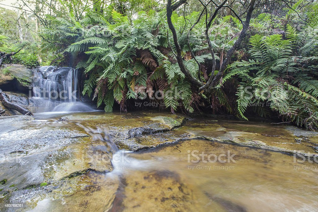Leura falls upper section, Blue Mountains, Australia stock photo