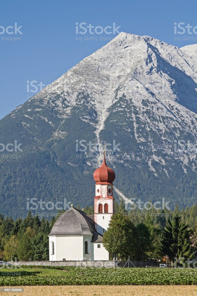 Leutasch in Tyrol stock photo