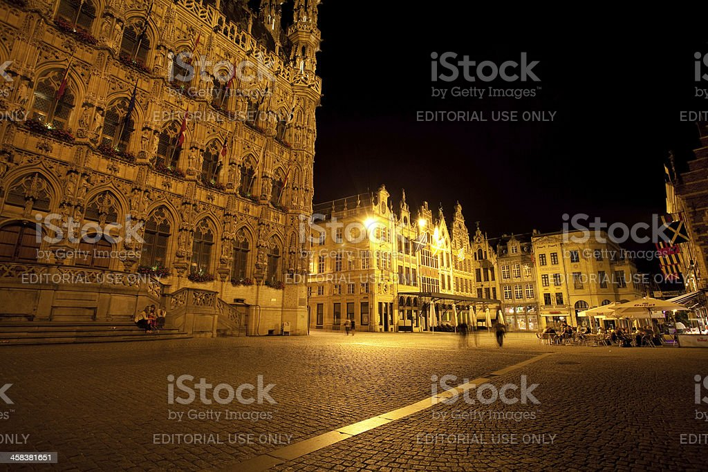 Leuven By Night royalty-free stock photo
