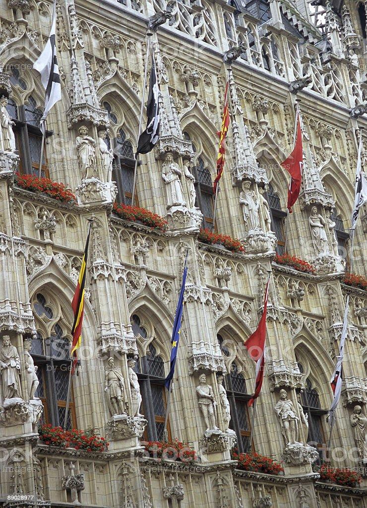 Leuven City Hall Detail royalty-free stock photo
