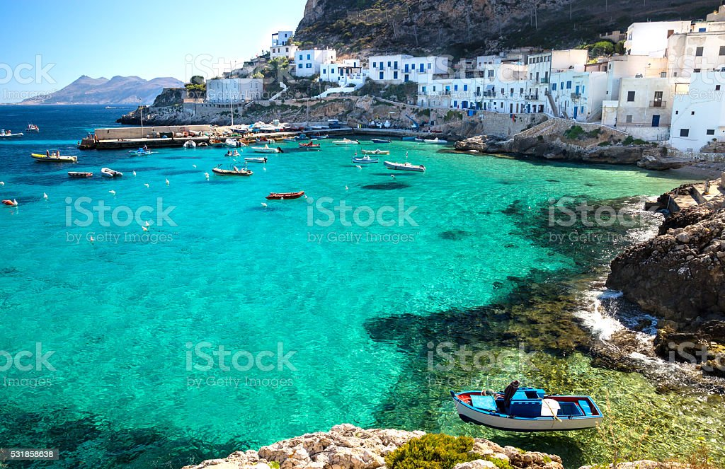 Levanzo Island Trapani Sicily Italy stock photo