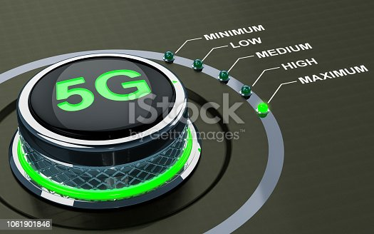 istock 5G level concept, knob. 3D rendering 1061901846