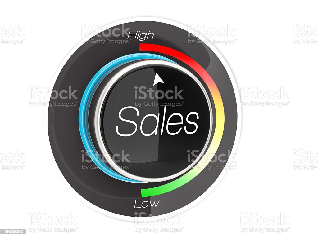 Level of Sales stock photo